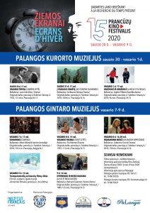 """Prancūzų filmų festivalis """"Žiemos ekranai"""" @ Palangos kurorto muziejus; Palangos gintaro muziejus"""